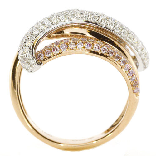 Real 127ct Natural Fancy Pink Diamonds Engagement Ring 18K Solid Gold 6G Band 253670742501 3 - Real 1.27ct Natural Fancy Pink Diamonds Engagement Ring 18K Solid Gold 6G Band