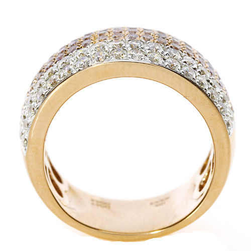 Real 128ct Natural Fancy Pink Diamonds Engagement Ring 18K Solid Gold 6G Band 253670742511 3 - Real 1.28ct Natural Fancy Pink Diamonds Engagement Ring 18K Solid Gold 6G Band