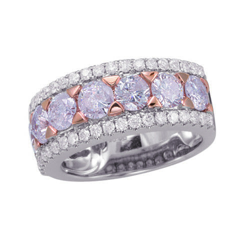 Real 134ct Natural Fancy Pink Diamonds Engagement Ring 18K Solid Gold 6G Band 263738747921 - Real 1.34ct Natural Fancy Pink Diamonds Engagement Ring 18K Solid Gold 6G Band