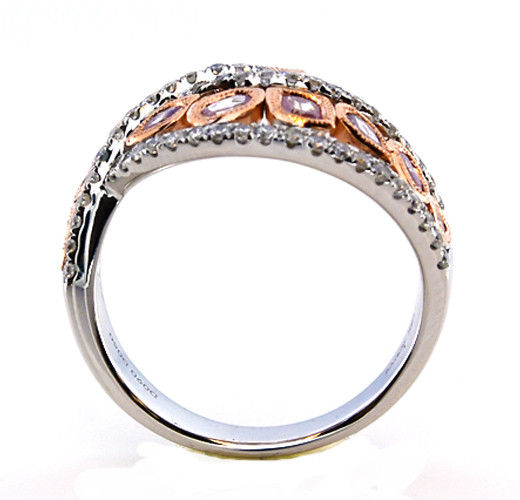 Real 140ct Natural Fancy Pink Diamonds Engagement Ring 18K Solid Gold 7G 253670742441 3 - Real 1.40ct Natural Fancy Pink Diamonds Engagement Ring 18K Solid Gold 7G