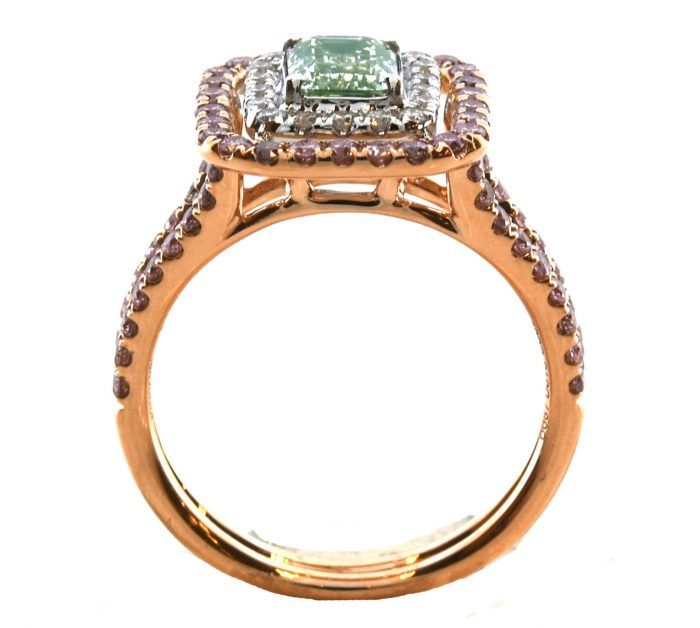 Real 170ct Natural Fancy Light Green Pink Diamonds Engagement Ring GIA 18K 263762585601 4 700x628 - Real 1.70ct Natural Fancy Light Green & Pink Diamonds Engagement Ring GIA 18K