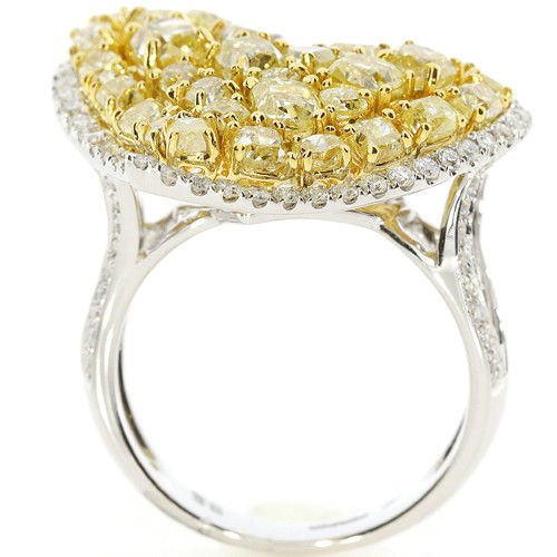 Real 461ct Natural Fancy Vivid Yellow Diamonds Engagement Ring 18K Solid Gold 263738746701 3 - Real 4.61ct Natural Fancy Vivid Yellow Diamonds Engagement Ring 18K Solid Gold