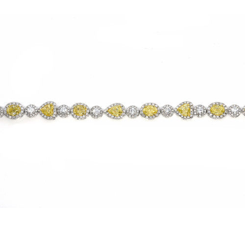 Yellow Diamonds Bracelet 944ct Natural Fancy Yellow Diamonds 18K Gold Real 263755567521 2 - Yellow Diamonds - Bracelet 9.44ct Natural Fancy Yellow Diamonds 18K Gold Real