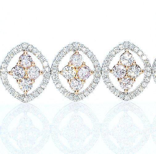 ARGYLE Pink Diamonds Bracelet 936ct Natural Fancy Pink 18K 26 Grams Mix Color 253713569182 2 - ARGYLE Pink Diamonds – Bracelet 9.36ct Natural Fancy Pink 18K 26 Grams Mix Color