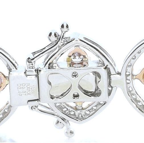 ARGYLE Pink Diamonds Bracelet 936ct Natural Fancy Pink 18K 26 Grams Mix Color 253713569182 3 - ARGYLE Pink Diamonds – Bracelet 9.36ct Natural Fancy Pink 18K 26 Grams Mix Color