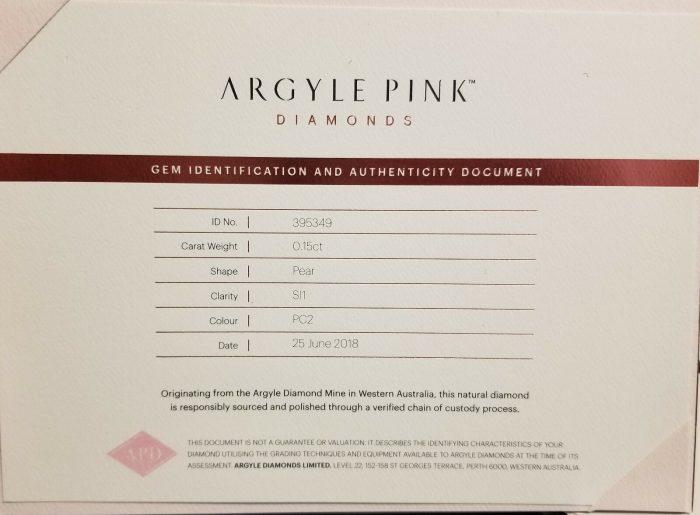Argyle 015ct Natural Loose FancyvDeep Orangy Pink Pear Shape Diamond PC2 SI1 254095687812 2 700x515 - Argyle 0.15ct Natural Loose Fancy Deep Orangy Pink Pear Shape Diamond PC2 SI1
