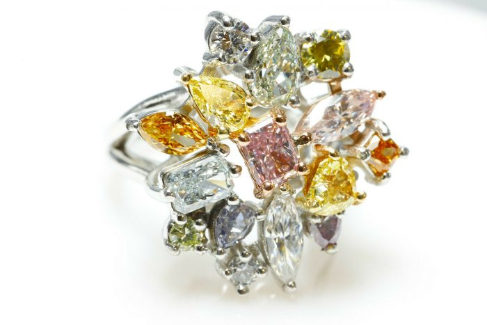 color diamond ring
