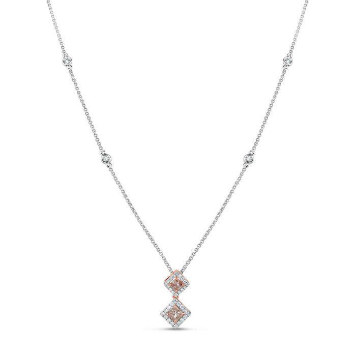Pink Diamond Necklace Pendant 059ct Natural Fancy Pink Diamonds 18K Gold 253850760872 700x700 - Pink Diamond - Necklace & Pendant 0.59ct Natural Fancy Pink Diamonds 18K Gold