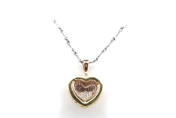 Real 073ct Natural Fancy Pink Diamonds Heart Pendant Necklace 18K Rose Gold 4G 253676205232 2 700x467 - Real 0.73ct Natural Fancy Pink Diamonds Heart Pendant Necklace 18K Rose Gold 4G