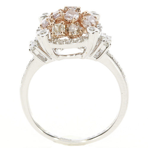 Real 120ct Natural Fancy Pink Diamonds Engagement Ring 18K Solid Gold 6G 253670742442 3 - Real 1.20ct Natural Fancy Pink Diamonds Engagement Ring 18K Solid Gold 6G