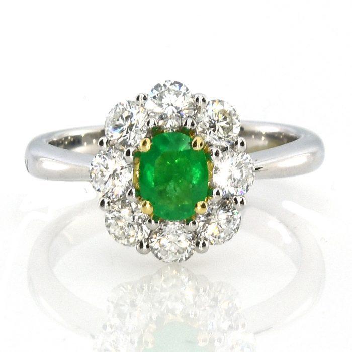 Real 138ct Natural Green Emerald Engagement Ring Oval Cut 18K Gold G VS2 253713569082 700x700 - Real 1.38ct Natural Green Emerald Engagement Ring Oval Cut 18K Gold G VS2