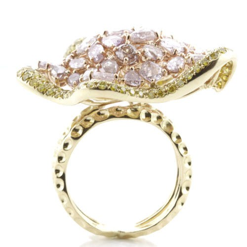 Real 750ct Natural Fancy Pink Diamonds Engagement Ring 18K Solid Gold 14G 253670740002 3 - Real 7.50ct Natural Fancy Pink Diamonds Engagement Ring 18K Solid Gold 14G