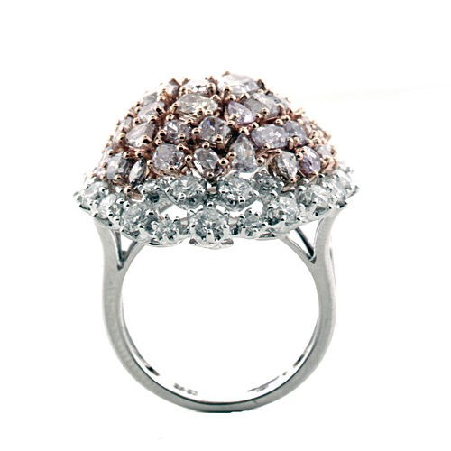 Real 820ct Natural Fancy Pink Diamonds Engagement Ring 18K Solid Gold 13G 253670740032 3 - Real 8.20ct Natural Fancy Pink Diamonds Engagement Ring 18K Solid Gold 13G