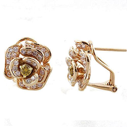 Real Fine 128ct Fancy Pink Diamonds Earrings 18K All Natural Stud Flowers Gold 263855969522 2 - Real Fine 1.28ct Fancy Pink Diamonds Earrings 18K All Natural Stud Flowers Gold