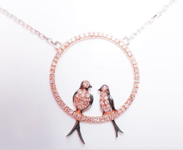 ARGYLE Pink Diamond Necklaces Pendant 050ct Natural Fancy Pink Birds 18K 253713569103 700x574 - ARGYLE Pink Diamond – Necklaces & Pendant 0.50ct Natural Fancy Pink Birds 18K