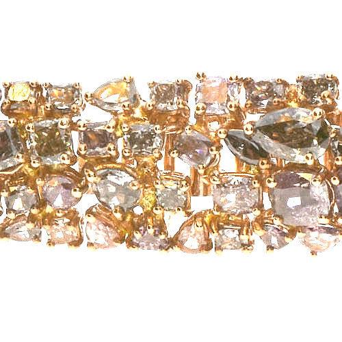 Pink Diamonds Bracelet 285ct Natural Fancy Pink Mix Color 18K 38 Grams 253713569073 2 - Pink Diamonds - Bracelet 28.5ct Natural Fancy Pink Mix Color 18K 38 Grams