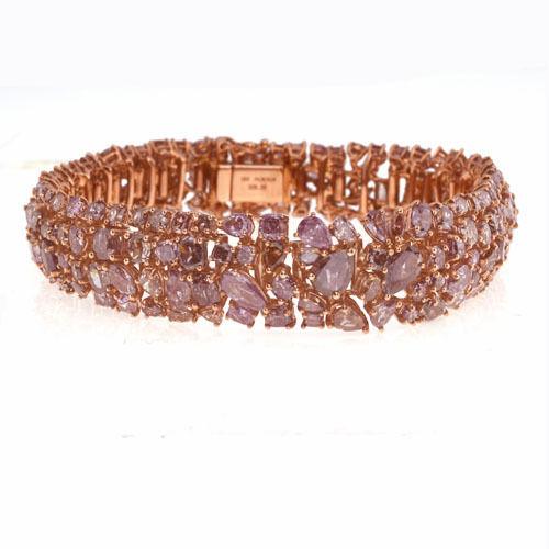 Pink Diamonds Bracelet 285ct Natural Fancy Pink Mix Color 18K 38 Grams 253713569073 - Pink Diamonds - Bracelet 28.5ct Natural Fancy Pink Mix Color 18K 38 Grams