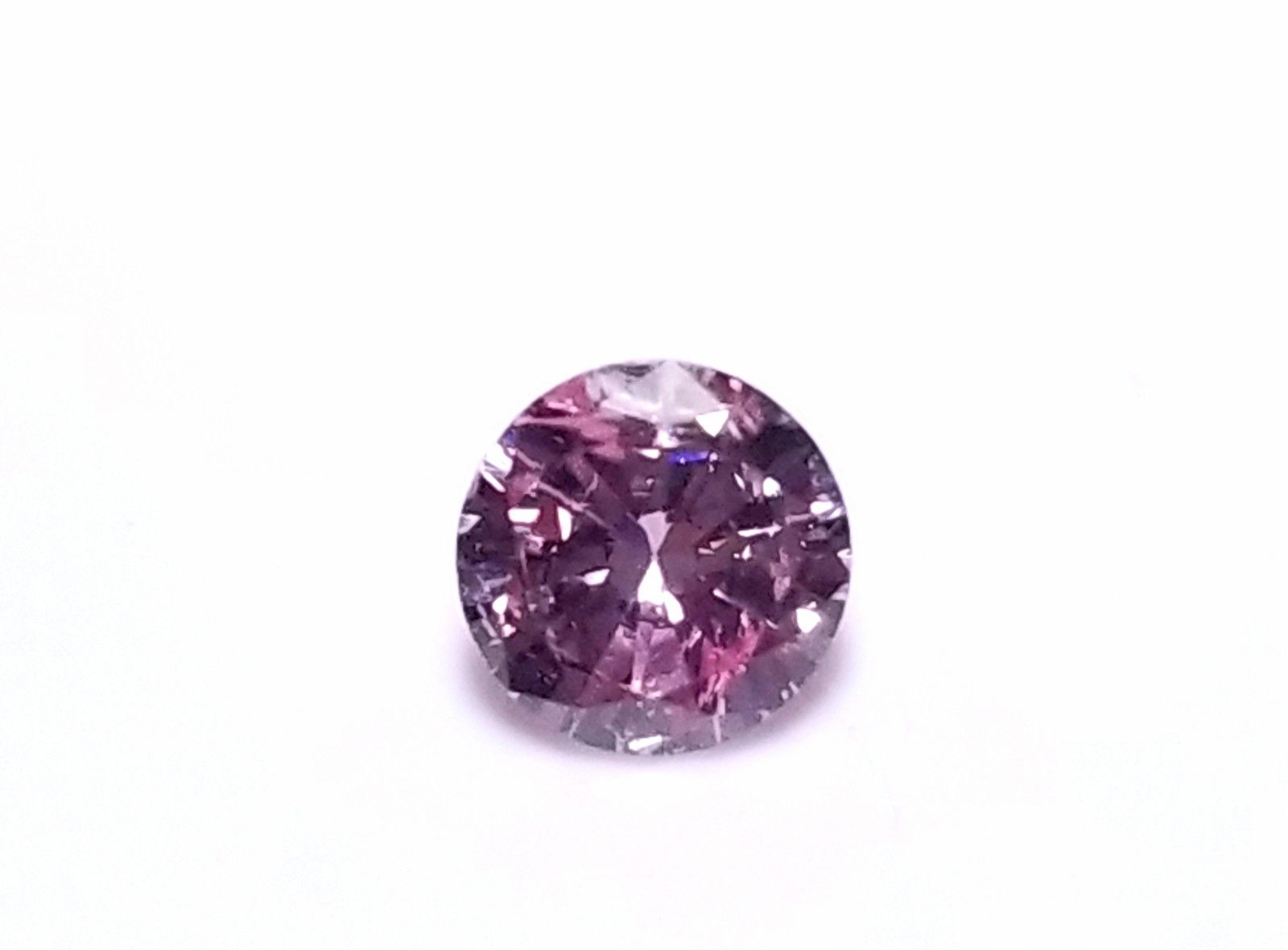 Real 0.32ct Natural Loose Fancy Intense Purple Pink Color Diamond GIA Round