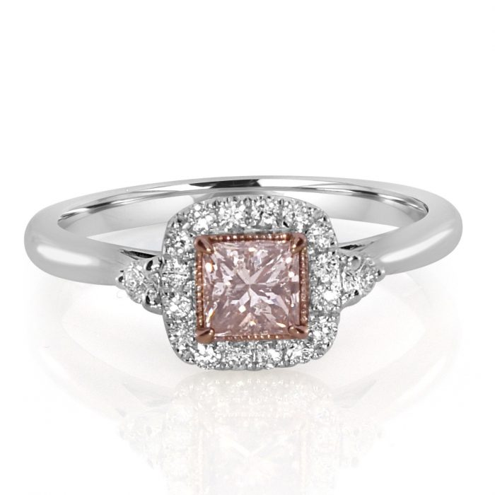 Real 063ct Natural Fancy Pink Diamonds Engagement Ring 18K Solid Gold Princess 253842902463 700x700 - Real 0.63ct Natural Fancy Pink Diamonds Engagement Ring 18K Solid Gold Princess