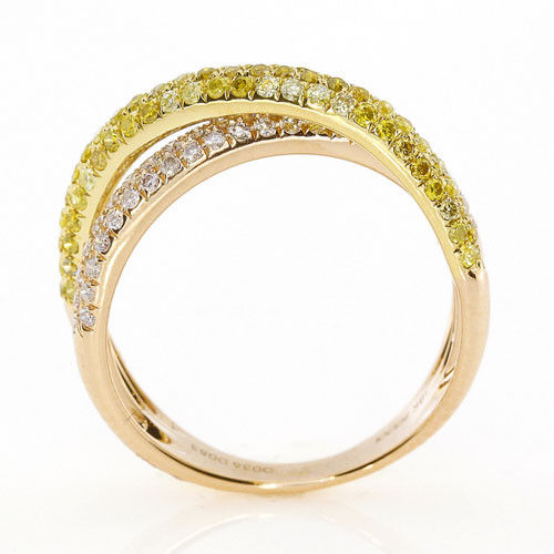 Real 112ct Natural Fancy Yellow Diamonds Engagement Ring 18K Solid Gold 6G 263738747983 3 - Real 1.12ct Natural Fancy Yellow Diamonds Engagement Ring 18K Solid Gold 6G