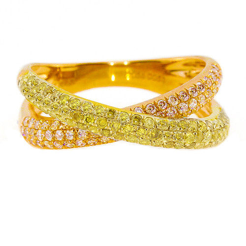 Real 112ct Natural Fancy Yellow Diamonds Engagement Ring 18K Solid Gold 6G 263738747983 - Real 1.12ct Natural Fancy Yellow Diamonds Engagement Ring 18K Solid Gold 6G