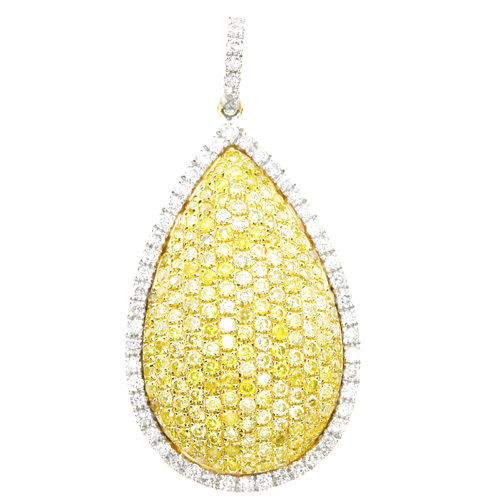 Real 129ct Natural Fancy Yellow Diamonds Pendant Necklace 18K Solid Gold 263738747993 - Real 1.29ct Natural Fancy Yellow Diamonds Pendant Necklace 18K Solid Gold