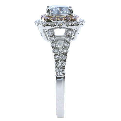 Real 201ct Natural Fancy Light Blue Pink Diamonds Engagement Ring GIA 18K SI1 263762585643 3 - Real 2.01ct Natural Fancy Light Blue & Pink Diamonds Engagement Ring GIA 18K SI1