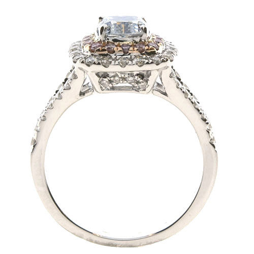 Real 201ct Natural Fancy Light Blue Pink Diamonds Engagement Ring GIA 18K SI1 263762585643 4 - Real 2.01ct Natural Fancy Light Blue & Pink Diamonds Engagement Ring GIA 18K SI1