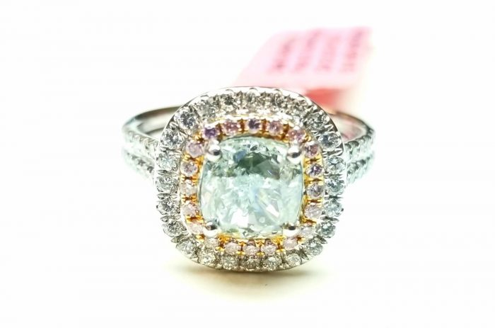 Real 201ct Natural Fancy Light Blue Pink Diamonds Engagement Ring GIA 18K SI1 263762585643 5 700x463 - Real 2.01ct Natural Fancy Light Blue & Pink Diamonds Engagement Ring GIA 18K SI1