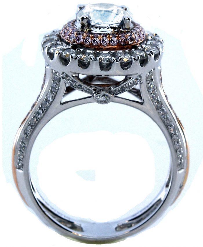 Real 223ct Natural Faint Light Blue Pink Diamonds Engagement Ring GIA 18K 253693729913 4 700x851 - Real 2.23ct Natural Faint Light Blue & Pink Diamonds Engagement Ring GIA 18K