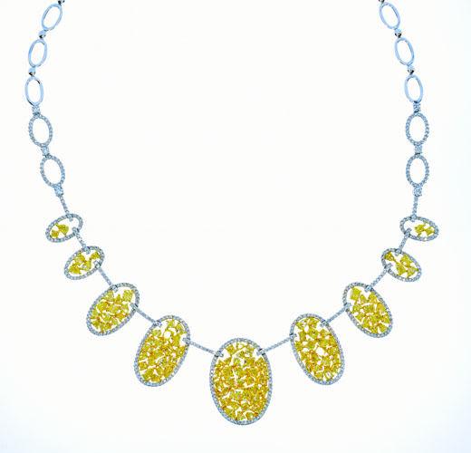 1482ct Fancy Intense Yellow Diamonds Necklace 18K All Natural 37G Real Gold 253713569074 - 14.82ct Fancy Intense Yellow Diamonds Necklace 18K All Natural 37G Real Gold