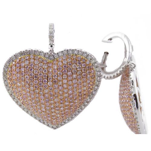 331ct Fancy Intense Pink Diamonds Earrings 18K All Natural 12 Grams White Gold 263781428884 2 - 3.31ct Fancy Intense Pink Diamonds Earrings 18K All Natural 12 Grams White Gold
