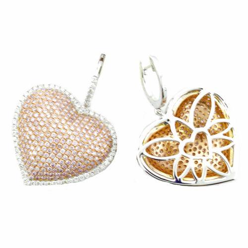 331ct Fancy Intense Pink Diamonds Earrings 18K All Natural 12 Grams White Gold 263781428884 3 - 3.31ct Fancy Intense Pink Diamonds Earrings 18K All Natural 12 Grams White Gold