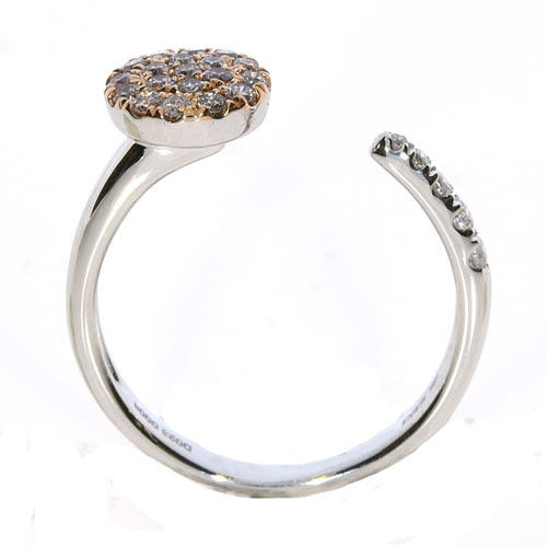 Real 0.38ct Natural Fancy Pink Diamonds Engagement Ring 18K Solid Gold 3G