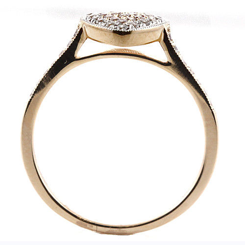 Real 050ct Natural Fancy Pink Diamonds Engagement Ring 18K Solid Gold 6G Band 253670742454 3 - Real 0.50ct Natural Fancy Pink Diamonds Engagement Ring 18K Solid Gold 6G Band