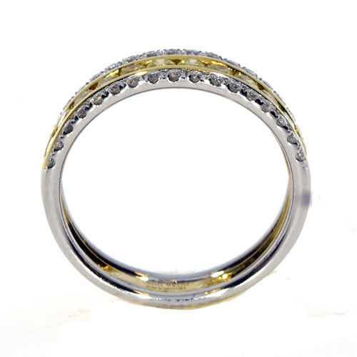Real 077ct Natural Fancy Yellow Diamonds Engagement Ring 18K Solid Gold Band 253687158664 3 - Real 0.77ct Natural Fancy Yellow Diamonds Engagement Ring 18K Solid Gold Band