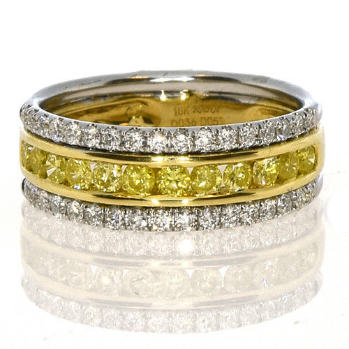 Real 077ct Natural Fancy Yellow Diamonds Engagement Ring 18K Solid Gold Band 253687158664 - Real 0.77ct Natural Fancy Yellow Diamonds Engagement Ring 18K Solid Gold Band