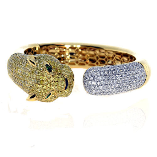 Real 1144ct Natural Fancy Yellow Diamonds Bracelet Bangle 18K Solid Gold 59Gr 263781428854 2 - Real 11.44ct Natural Fancy Yellow Diamonds Bracelet Bangle 18K Solid Gold 59Gr
