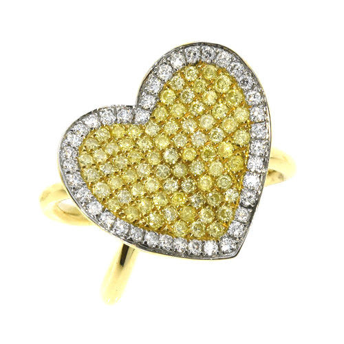 Real 136ct Natural Fancy Yellow Diamonds Engagement Ring 18K Solid Gold 6G 263738747934 - Real 1.36ct Natural Fancy Yellow Diamonds Engagement Ring 18K Solid Gold 6G