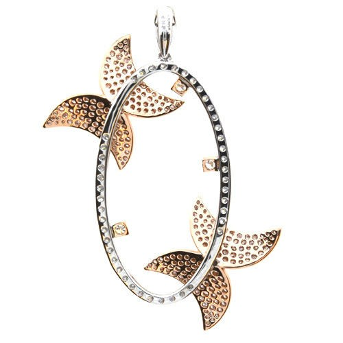 Real 211ct Natural Fancy Pink Diamonds Pendant Necklace 18K Rose Gold Butterfly 253670739994 2 - Real 2.11ct Natural Fancy Pink Diamonds Pendant Necklace 18K Rose Gold Butterfly