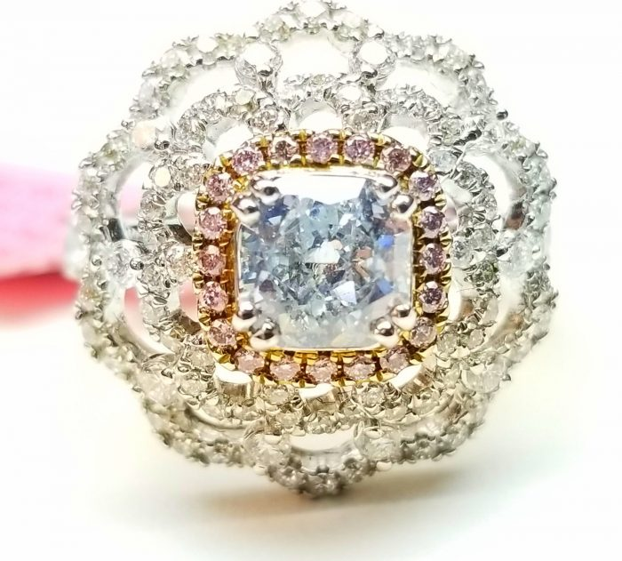 Real 228ct Natural Fancy Light Blue Pink Diamonds Engagement Ring GIA 18K SI2 253693729994 700x631 - Real 2.28ct Natural Fancy Light Blue & Pink Diamonds Engagement Ring GIA 18K SI2