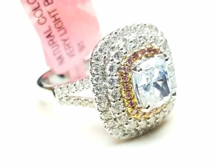Real 273ct Natural Fancy Light Blue Pink Diamonds Engagement Ring GIA 18K 263762585594 2 700x545 - Real 2.73ct Natural Fancy Light Blue & Pink Diamonds Engagement Ring GIA 18K