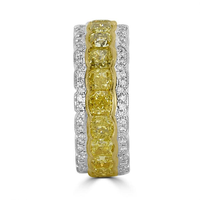 Real 643ct Natural Fancy Yellow Diamonds Engagement Ring 18K Solid Gold 263909804354 2 700x700 - Real 6.43ct Natural Fancy Yellow Diamonds Engagement Ring 18K Solid Gold