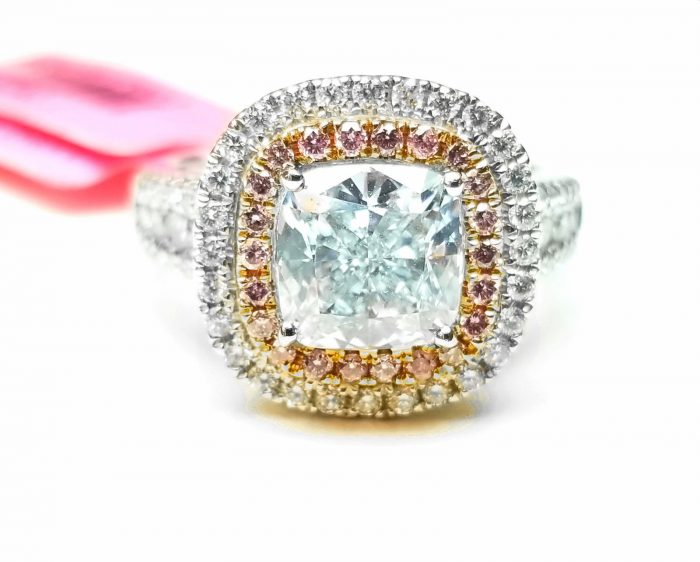 Real GIA 202ct Natural Faint Light Blue Pink Diamonds Engagement Ring 18K 263755567524 700x562 - Real GIA 2.02ct Natural Faint Light Blue & Pink Diamonds Engagement Ring 18K