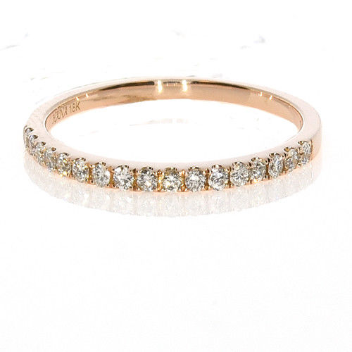 8dcec2291d2 0.19ct Natural F Color Diamonds Engagement Ring Weding Band 18K Solid Gold  2G