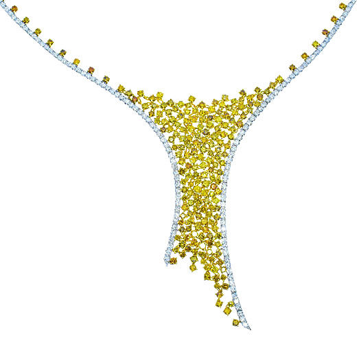 1763ct Fancy Yellow Diamonds Necklace 18K All Natural 48G Real Gold Mix Shape 263781428895 - 17.63ct Fancy Yellow Diamonds Necklace 18K All Natural 48G Real Gold Mix Shape