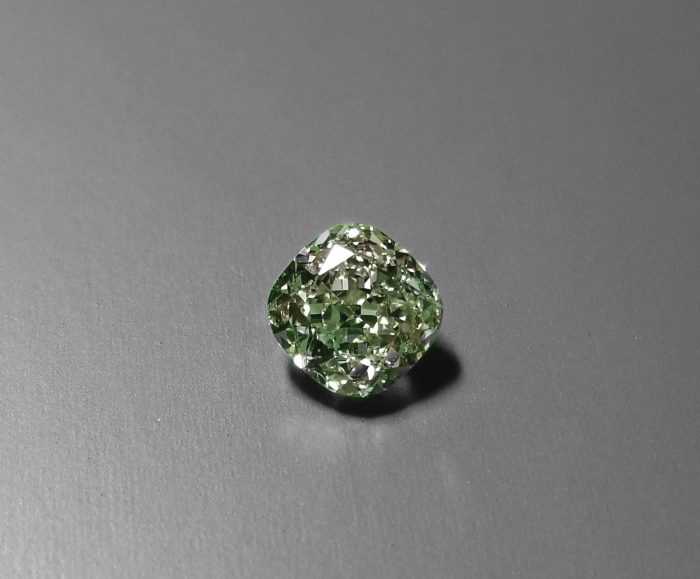 Green Diamond 102ct Natural Loose Fancy Light Green Color GIA Cushion VS1 253846878225 4 700x579 - Green Diamond - 1.02ct Natural Loose Fancy Light Green Color GIA Cushion VS1