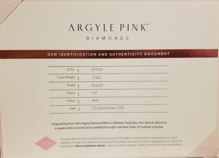 Pink Diamond 038ct ARGYLE Natural Loose Fancy Very Light Pink GIA Round 264169661785 6 700x503 - Pink Diamond – 0.38ct ARGYLE Natural Loose Fancy Very Light Pink GIA Round