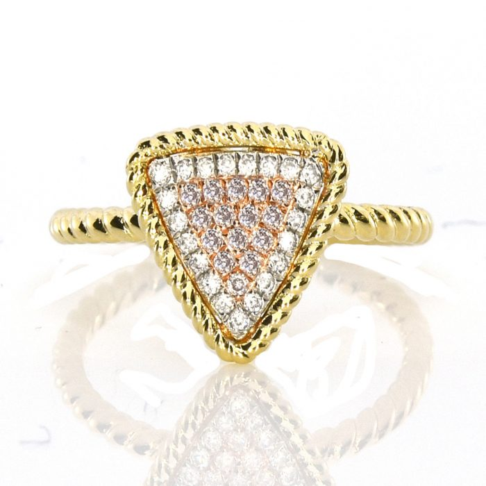 Real 018ct Natural Pink Purple Color Diamond Engagement Ring Triangl 18K VS SI 253676205225 700x700 - Real 0.18ct Natural Pink Purple Color Diamond Engagement Ring Triangl 18K VS-SI
