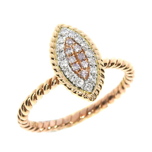 Real 024ct Natural Fancy Pink Diamonds Engagement Ring 18K Solid Gold 6G Band 263738748015 - Real 0.24ct Natural Fancy Pink Diamonds Engagement Ring 18K Solid Gold 6G Band